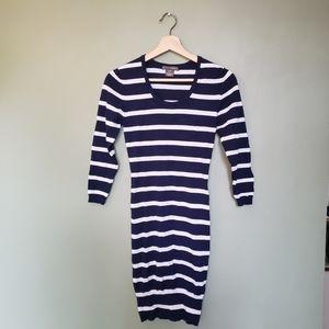 Flash sale💥Navy Striped Bodycon Dress